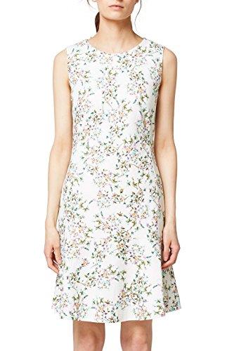 ESPRIT Collection Damen 058EO1E007 Kleid, Weiß (Off White 110), 40