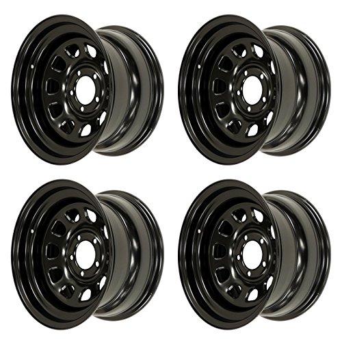 4x Black'D' Window Wheel (No CEE)