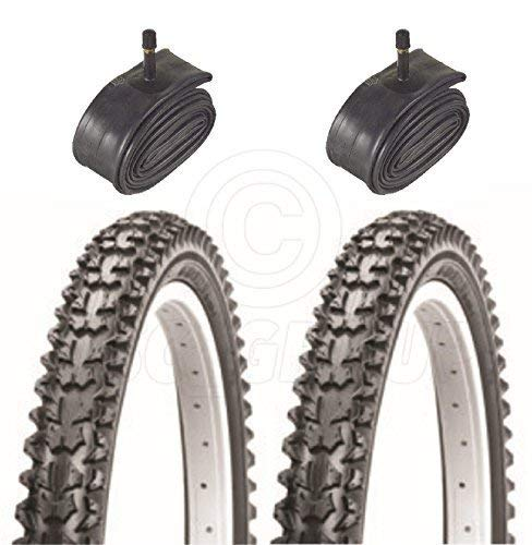 Vancom 2 Bicycle Tyres Bike Tires - Kids Mountain Bike - 14 x 2.125 - With Schrader Tubes