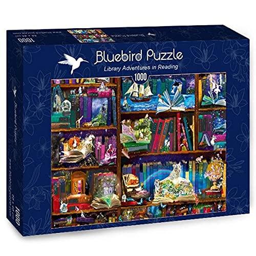 Bluebird Puzzle - Library Adventures in Reading - Biblioteca de 1000 piezas (70313)