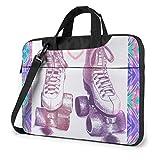 Drawing Skating Shoes Laptop Shoulder Bag Sleeve Case, Shockproof Laptop Briefcase Computer Bag Compatible with 13-15.6 Inch Notebook, MacBook