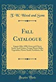 Fall Catalogue: August 10th, 1898; Grass and Clover Seeds, Seed...