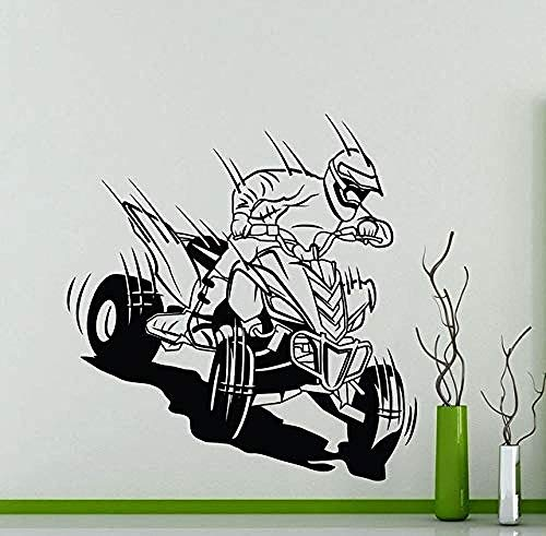 57x60cm carreras de motos todoterreno de cuatro ruedas entusiastas de los deportes extremos club de carreras todoterreno página de inicio pegatinas de pared de vinilo extraíbles