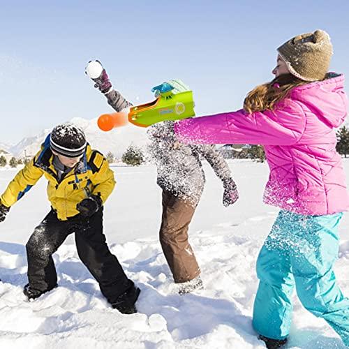 Gidenfly Fabricante de bolas de nieve con lanzador de bola de nieve con bola de goma flexible de 6 colores y pinza de bola de nieve, juego de fiesta para las familias en invierno