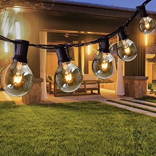 Opard Lichterkette Außen 7.5M 28er Lichterkette G40 Glühbirnen Glühbirnen Lichterkette Außen Warmweiß Garten Lichterketten Außen Innenbeleuchtung Deko Licht mit Stecker für Hochzeit, Zimmer, Garten