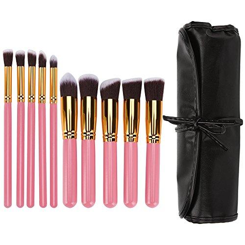 Makeup Brushes, 10 Pics Ubiziki Premium Professional Makeup Brush Set Foundation Eyeshadow Blush Eyeliner Face Powder Brush Make Up Brush Kit with Cosmetic Bag