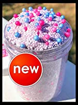 6oz UNICORN SPARKLES Micro FLOAM *SCENTED* Cotton Candy Bubblegum Unicorn CHARM Handmade Crunchy Squishy Slime Homemade in USA by Savv.Slimes