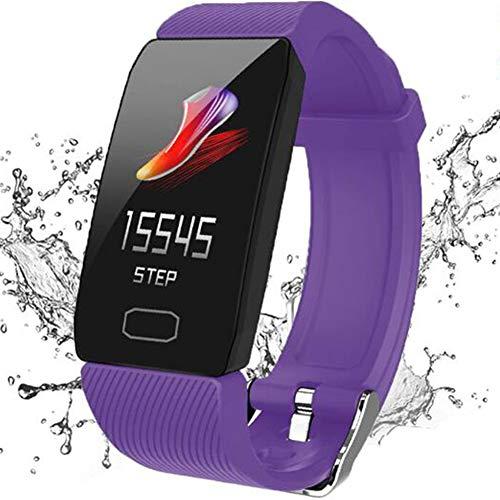 GWSPORT Smart Armband Aktivität Fitness Tracker, Pulsuhren Blutdruck Pulsoximeter Schlaf Monitor, Anruferinnerung IP67 Smart Armbanduhr Für Frauen Und Männer,Lila