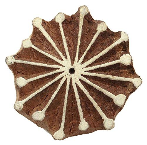 Dekorative Textildruck Holzblöcke Stempel Hand geschnitzte Blumenmuster-Block