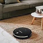 ANNEW Aspirateur robot machine nettoyage avec télécommande 3 modes de nettoyage antichute filtre HEPA idéal pour les poils d'animaux tapis sol dur #1
