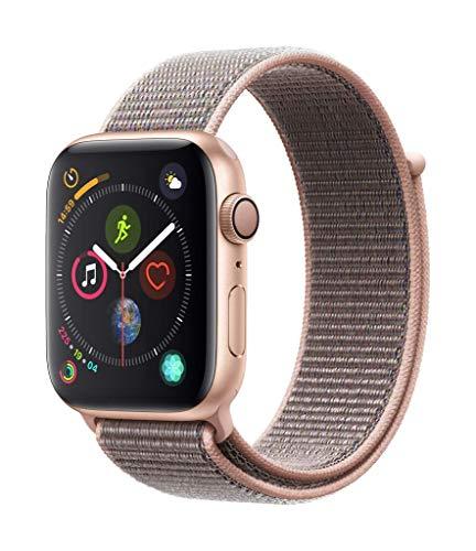 Apple Watch Series 4(GPSモデル、44mmゴールドアルミニウムケースとピンクサンドスポーツループ)