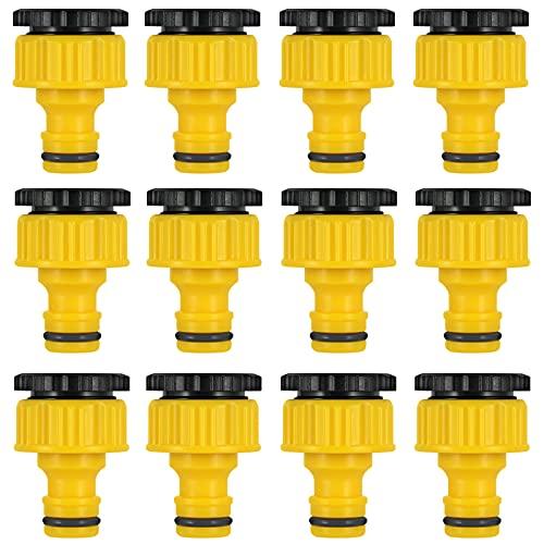 Conectores de Manguera Unir Conector de Manguera de Jardín Conectores de Manguera Kit Conectores con Cuello para Adaptador de Conexión de Herramienta de Acoplamiento Rápidode Línea 4/6 12 Piezas