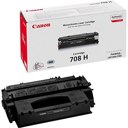 Canon cartucho 708H de tóner original negro para impresoras láser i-SENSYS LBP3300, LBP3360