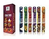 Palos de la serie de primera calidad Feng Shui - palos de incienso- APT para usar en casa o Workplace- pack de 6 de larga duración del aroma palos - 120 palos de fragancias - Crea Mesmerising Aura