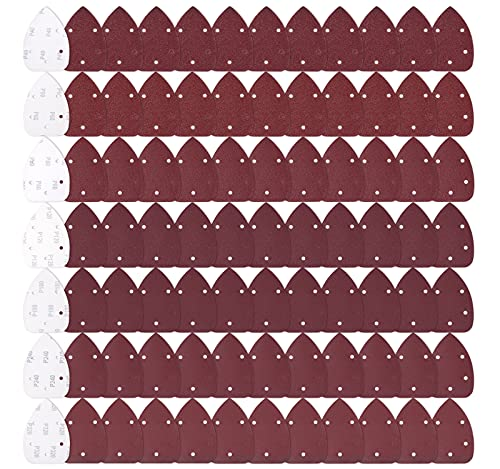 MIDO Professional Abrasive 84 PCS Mouse Detail Sander Sandpaper Sanding Paper Assorted 40/60/80/120/180/240/320 Grits