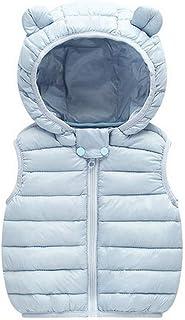 ea5606d2ad3d7 ARAUS Gilet Bébé en Coton Léger Manteau d hiver Doudoune sans Manche Neige Capuche  3