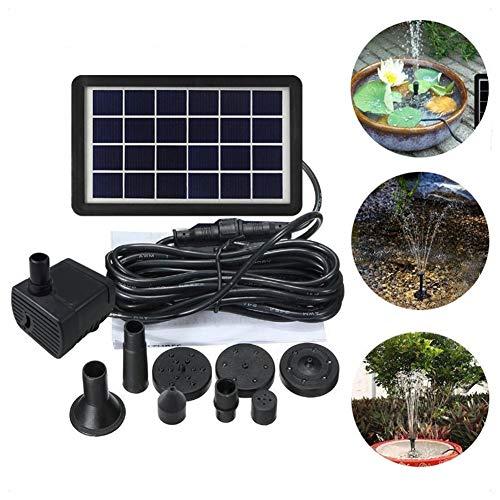 DCSHOP Solar Springbrunnen, Solar Teichpumpe 6V 3W Solar Panel Wasserpumpe Solar Schwimmender Fontäne Pumpe für Vogelbad, Aquarium, Teich oder Gartendekoration