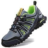 ASTERO Zapatillas de Deportes Hombre Running Zapatos para Correr Gimnasio Calzado Deportivos Ligero Sneakers Transpirables Casual Montaña Calzado Talla 41-46 (Gris Claro, Numeric_45)