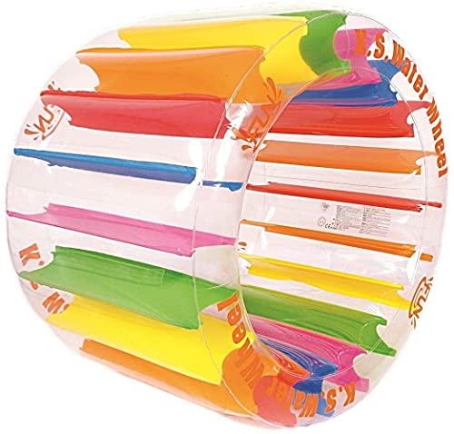 wsbdking Rueda de Agua Inflable, Rodillo Inflable, Juguetes de Agua de Flotador Grande Inflable, ráfaga de Flotador de Fiesta para niños, Juguetes de Agua, Piscina, Bola de hámster Humano