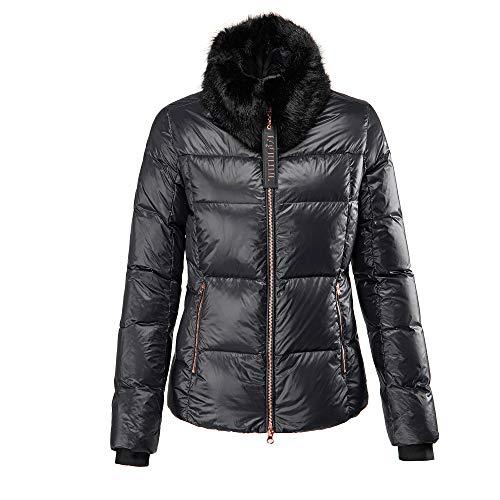 Equiline Damen Daunenjacke, Gesteppte Damenjacke, Jacke EQ_Glamour, Black Größe L