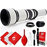 Opteka 650-2600mm High Definition Super Telephoto Zoom Lens for Nikon F-Mount Digital SLR Photo Cameras + Premium 8-Piece Cleaning Kit