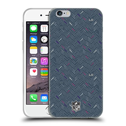 Head Case Designs Oficial NFL Patrón 5 2018 Super Bowl LII Carcasa de Gel de Silicona Compatible con Apple iPhone 6 / iPhone 6s