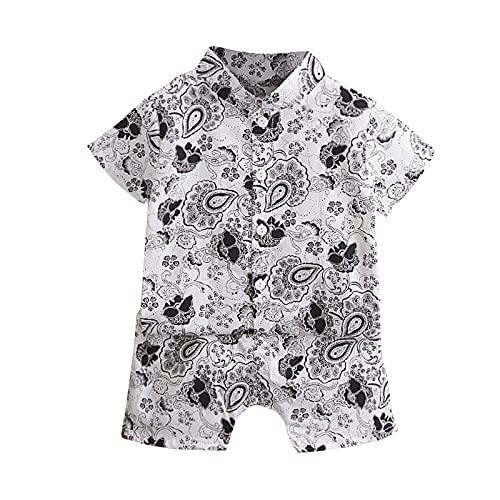 Keepwin Conjunto Bebé Niño Bohemia Estampado Ropa Bebe Recien Nacido Niño Camisa Manga Corta T-Shirt Tops y Pantalones Cortos Traje de 2 Piezas Niños 6 Mes - 4 Año Conjunto Primera Puesta Bebe Niños