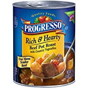 Progresso Rich & Hearty Soup, Beef Pot Roast with Country Vegetables, 18.5 oz(Pack of 12)