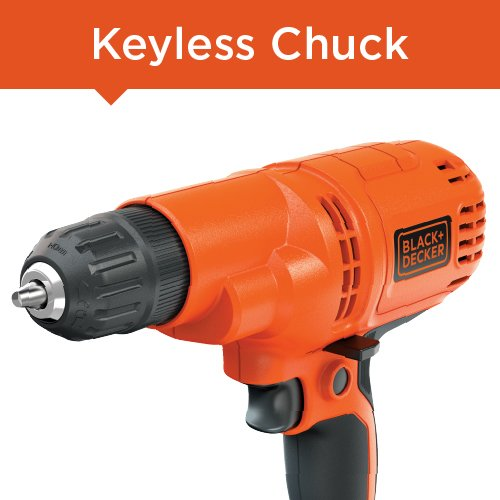 Product Image 2: BLACK+DECKER Corded Drill, 5.2-Amp, 3/8-Inch (DR260C)