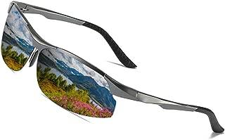 Occffy 変色調光サングラス 偏光サングラス[超軽量/アルミニウム・マグネシウム合金材] 男女兼用 スポーツサングラス 紫外線感知 UV400 釣り ドライブアウトドア 登山 自転車 ゴルフ 運転 変色 調光グラス J8003