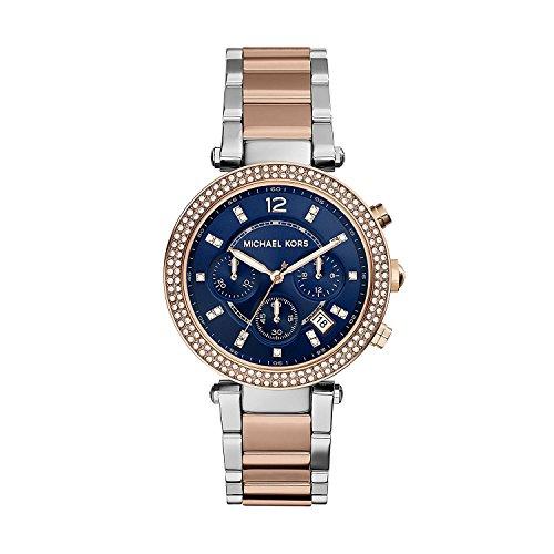 Michael Kors Reloj analogico para Mujer de Cuarzo con Correa en Acero Inoxidable MK6141