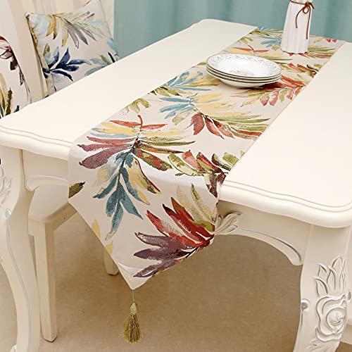 Camino de mesa Kokomomomi, multicolor, borla, tela de alta precisión, color