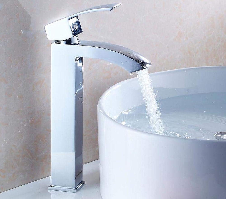 Wasserhahn Küchenarmatur Tall Basin Faucets Chrome Bathroom Sink Mixer Faucets Single Handle Bath Wash Basin Taps Hot Cold Waterfall Mixer Tap
