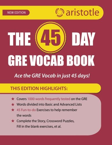 The 45 Day Gre Vocab Book Ace The Gre Vocab In 45 Days