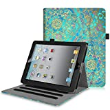 Fintie Case for iPad 2 3 4 (Old Model) 9.7 inch Tablet - [Corner Protection] Multi-Angle Viewing Smart Cover with Pocket, Auto Sleep/Wake for iPad 2/3 & iPad 4th Gen Retina Display, Shades of Blue
