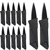 12 Pack Stainless Steel Credit Card Knife Fits Perfect in Your Wallet, Multifunction Folding Blade Knives