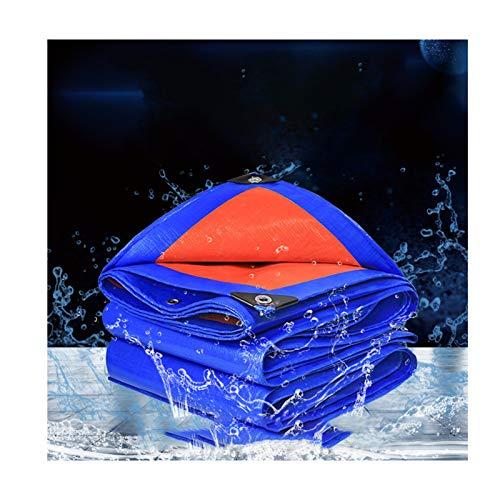 GGYMEI Lona De Protección , Impermeable Protector Solar Fácil De Plegar Adecuado for Carpa De Jardín El Plastico, 12 Tamaños (Color : Blue, Size : 3.8x4.8m)
