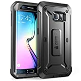Supcase Unicorn Beetle PRO Series Full-Body Rugged Holster Case with Out Built-in Screen Protector for Samsung Galaxy S6 Edge (2015 Release) - Retail Package - Black/Black