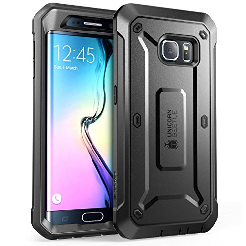 SUPCASE Unicorn Beetle PRO Series Phone Case for Samsung Galaxy S6 Edge 2015, Full-Body Rugged Holster Case for Galaxy S6 Edge 2015 (Black)