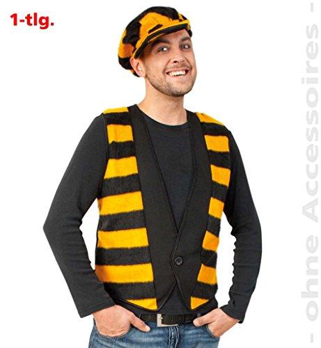 Weste Buzzi Karneval Fasching Mottoparty (Small) Biene Kostüm schwarz-gelb Tiere