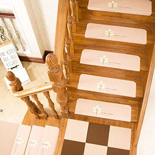 xtswllt trapkleed, antislip, kleefvrij, zelfklevende treepmat van massief hout