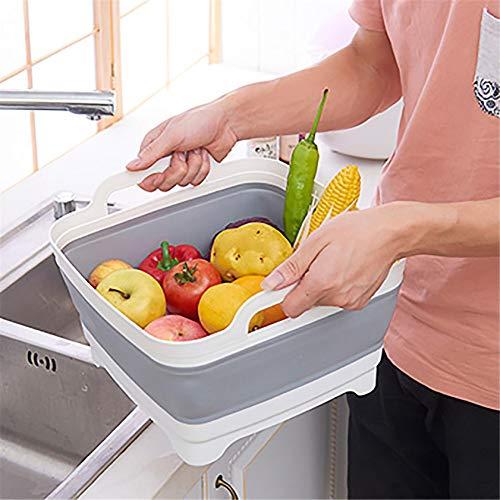 Ackful【US Stock】Folding Portable Storage Basket Portable Dinnerware Organizer - Space Saving Kitchen Storage Tray