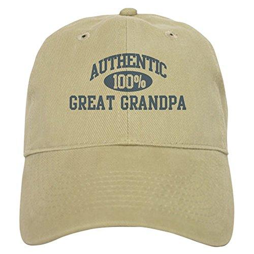 CafePress Authentic Great Grandpa Cap Baseball Cap with Adjustable Closure, Unique Printed Baseball Hat Khaki