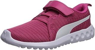 PUMA Unisex-Baby Carson 2 Velcro Sneaker, fuchsiapurple-White, 5 M US Toddler