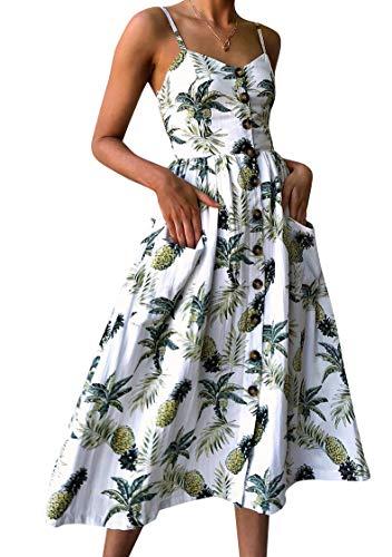 OMZIN Damen Kleid Sommerkleid Sexykleid...