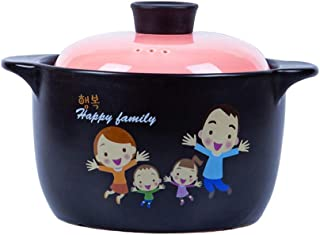 XH&XH Ceramic Lined Baking Pan with Lid Clay Pot Clay Pot Onion Soup Pots Korean Bibimbap Soup Pot Soup Pot Pink 4.23quart