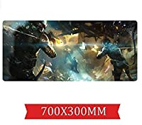 マウスパッドレインボー包囲速度 ゲームマウスパッド  XXLマウスパッド  700 x 300mm大型 完璧な精度とスピード D