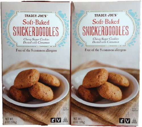 Trader Joe's Soft-Baked Snickerdoodles Chewy Sugar Cookies (Pack of 2)