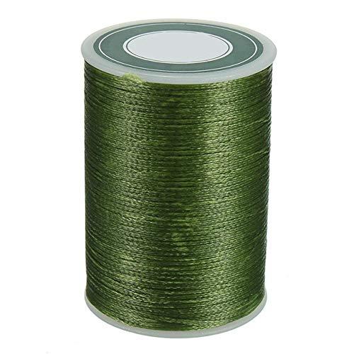 Naaien van leer geboend massieve draad 0,8 mm kabelelement 78M sterke polyester microvezels wire armband,groen