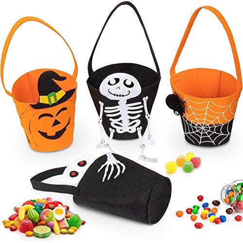 Fenvela, bolsa de Halloween, bolsa de caramelos para niños y bolsos de dulces o bailarines con una variedad de modelos exquisitos, tela no tejida Bolso de Caramelos Halloween (B)